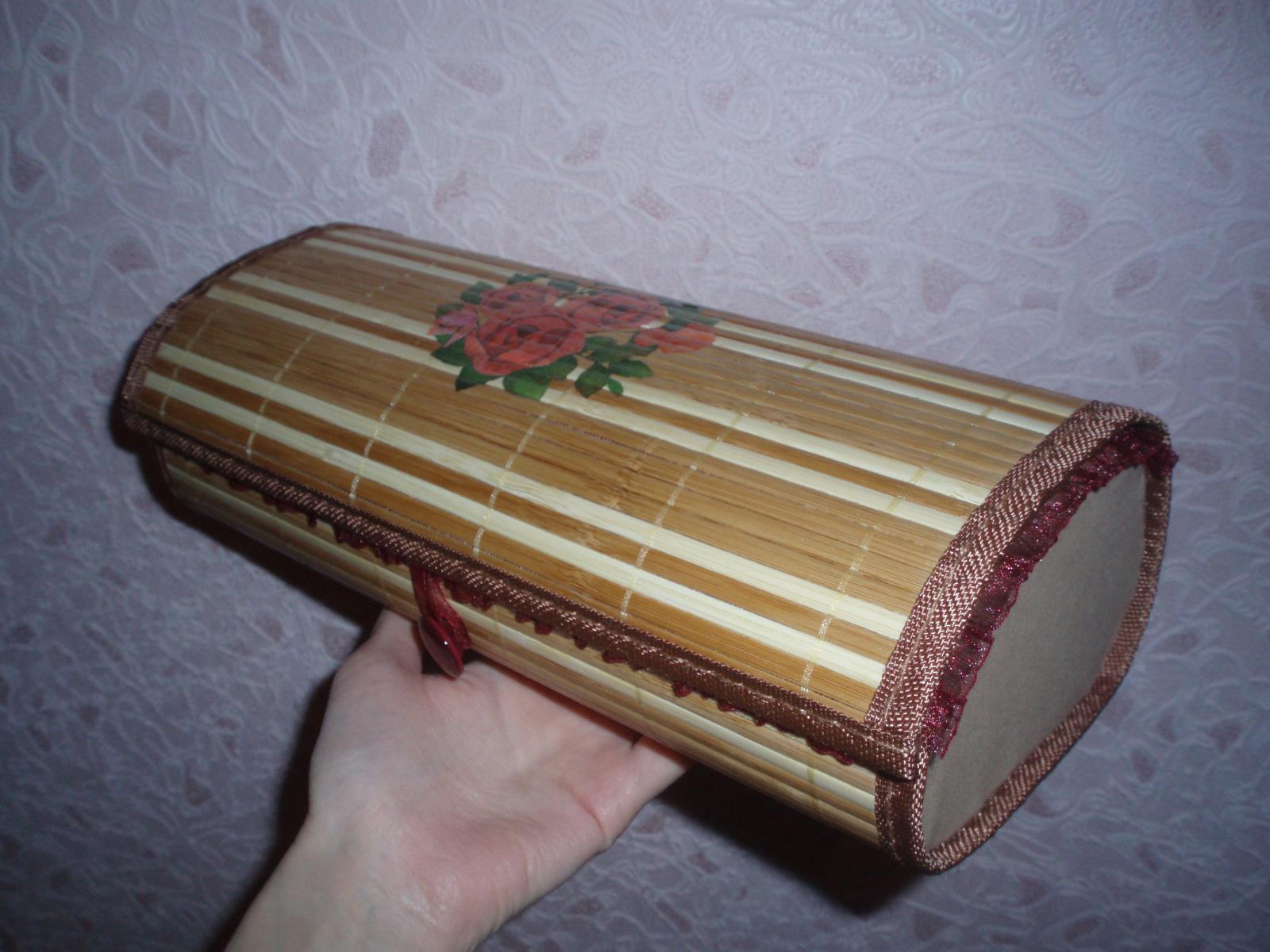 Как сделать своими руками шкатулку из салфетки бамбуковой
