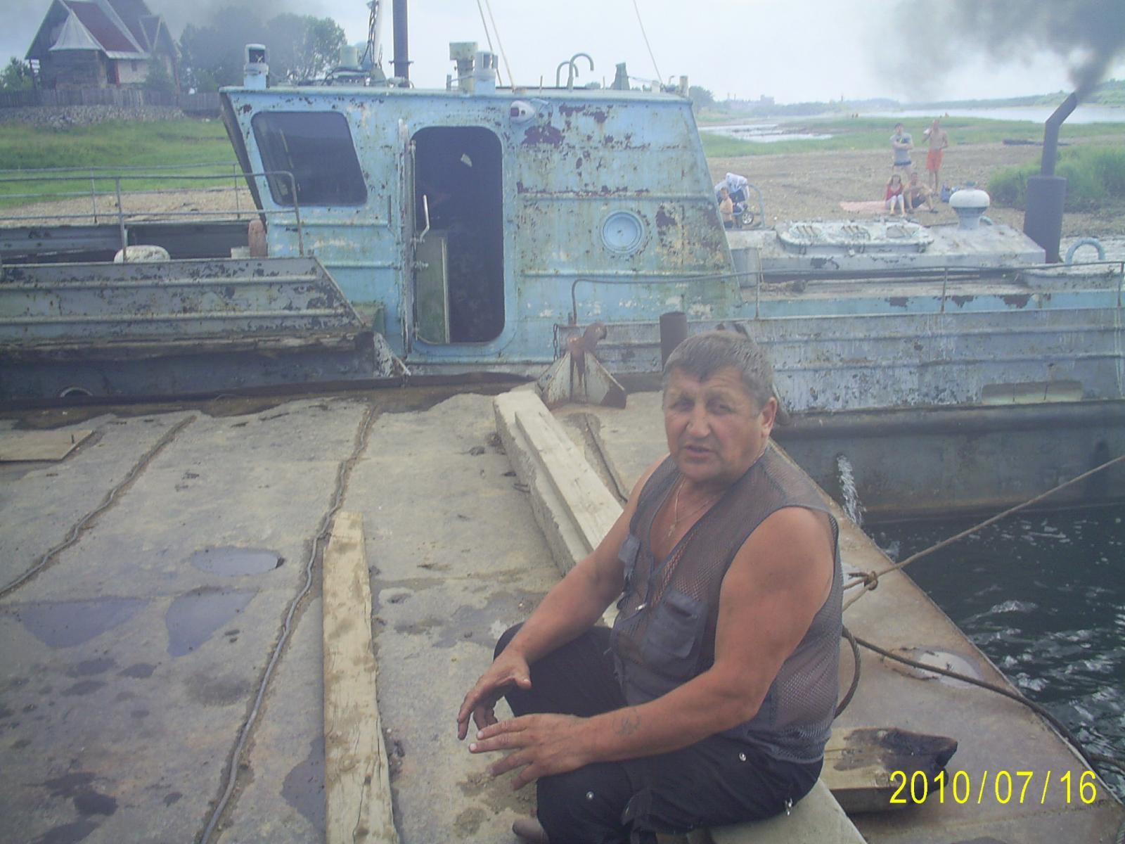 местный лесопромышленник Виктор помог с переправой через вишеру
