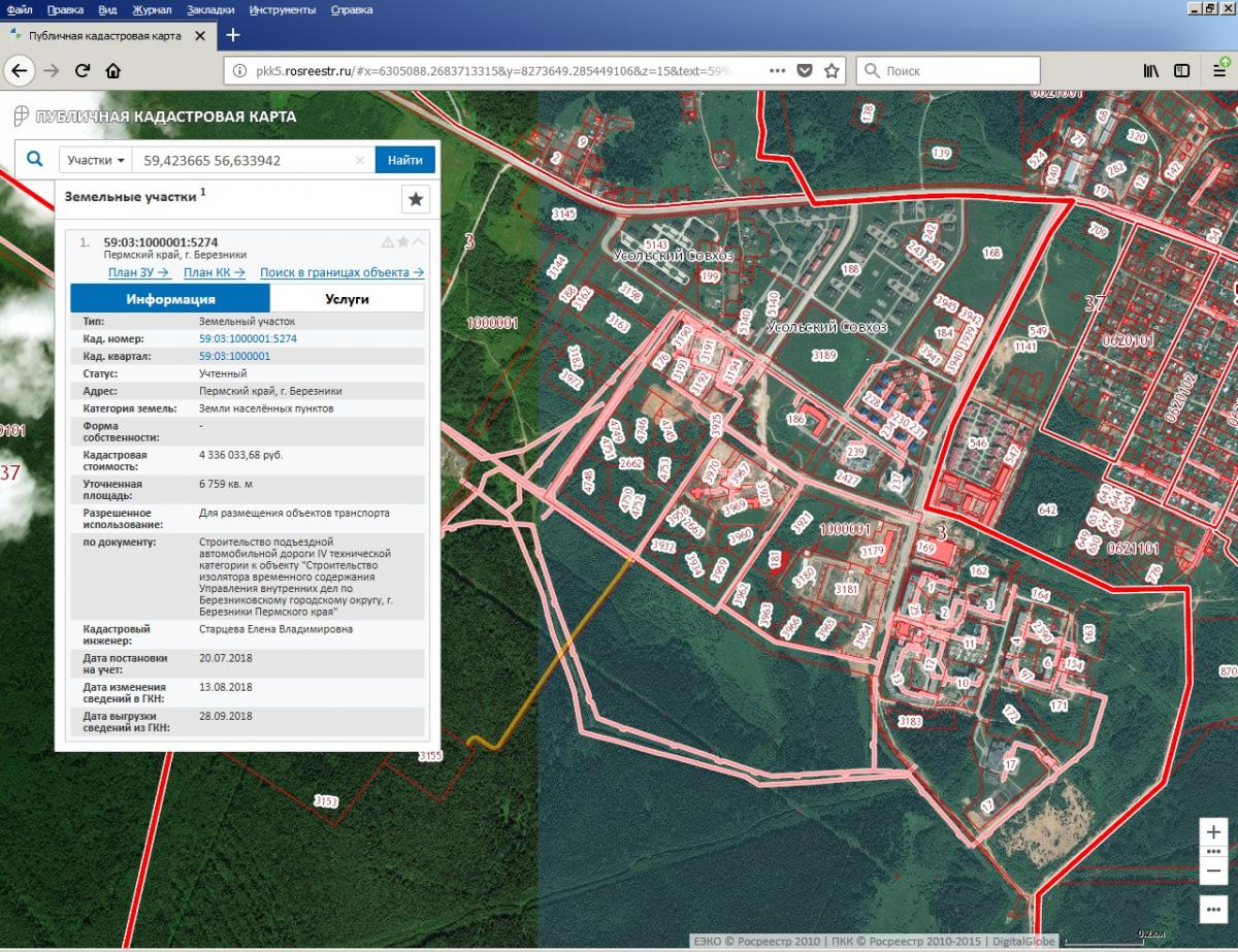 земельная карта государственного кадастра недвижимости